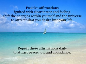 Affirmations for peace joy and abundance