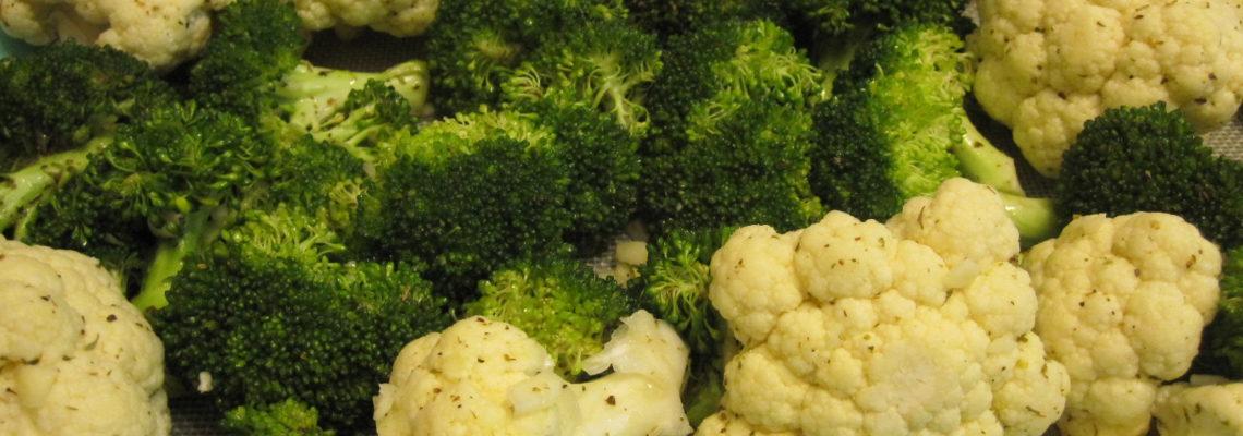 Lemon Garlic Broccoli and Cauliflower