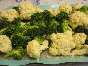 Lemon Garlic Broccoli and Cauliflower