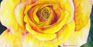 Yellow Rose Watercolor Carolyn Almendarez 082615 2000x1019