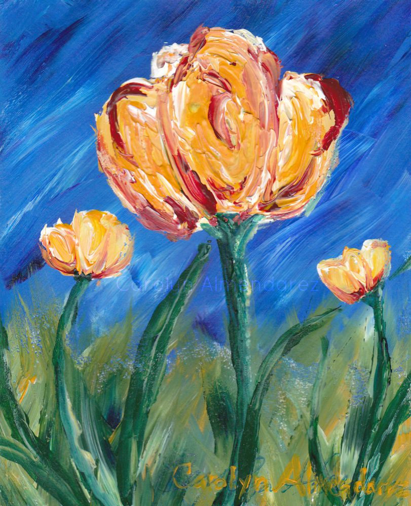 Yellow Tulips Carolyn Almendarez
