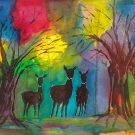 Deer in the Forest Carolyn Almendarez